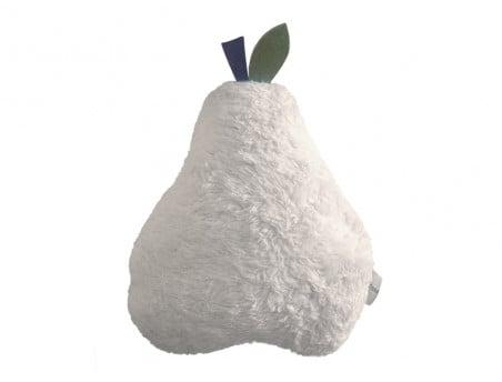 Coussin Doudou Poire Blanc