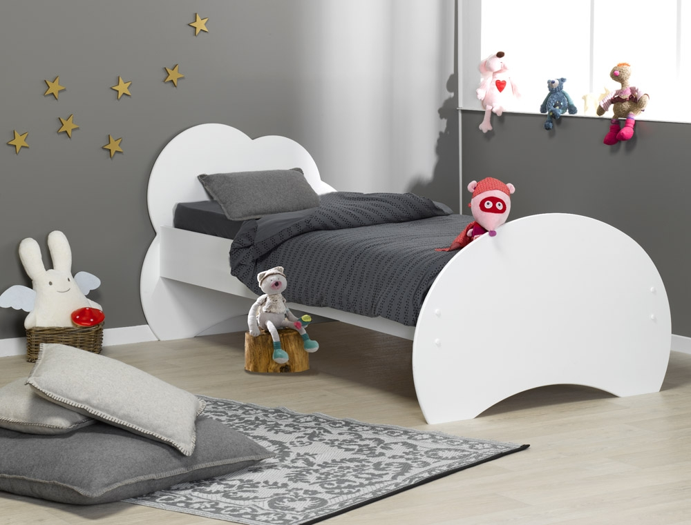 lit enfant alt a blanc 90x190 avec sommier et matelas. Black Bedroom Furniture Sets. Home Design Ideas
