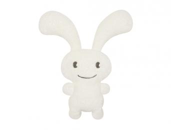 "Hochet Funny Bunny ""Ice"" blanc 24cm"