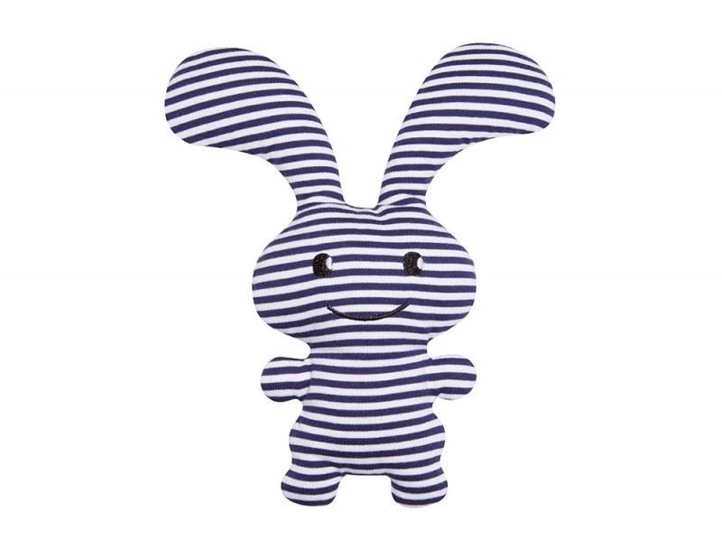 "Hochet Funny Bunny ""Ice"" rayures Marines 24cm"