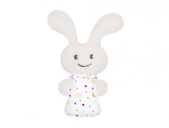 Mini hochet Funny Bunny 16cm étoiles et nuages