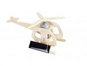 Hélicopter à construire avec panneau solaire