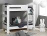 Avec le lit mezzanine enfant London Blanc 90/190 vous pouvez faire un lit superposé