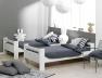 Avec le lit mezzanine enfant London Blanc 90/190 vous pouvez faire deux lits simples