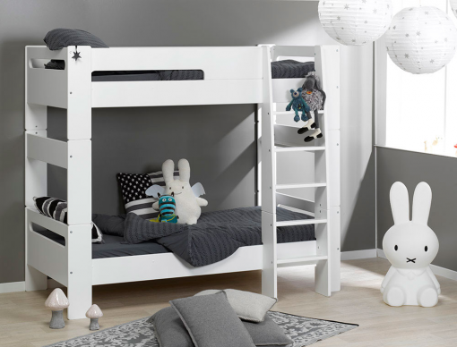 lit superpos enfant london blanc 90x190 chambrekids. Black Bedroom Furniture Sets. Home Design Ideas