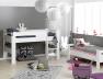 Lit superposé enfant London Blanc 90/190 Possibilité de faire un lit mi-hauteur et un lit bas