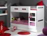 Lit superposé enfant Feroe blanc 90x190 possibilité de faire deux lit bas . Tiroir disponible sur le site