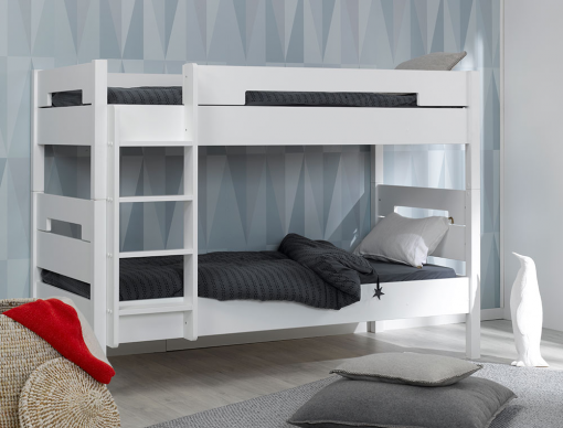 lit superpos enfant milo blanc 90x190 fabriqu en france. Black Bedroom Furniture Sets. Home Design Ideas