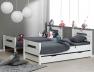 Lit superposé enfant Milo blanc 90x190 en lits jumeaux. Tiroir disponible sur le site