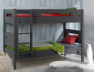 Lit superposé enfant Milo anthracite 90x190