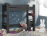 Avec le lit superposé enfant London Anthracite 90/190 vous pouvez faire un lit mezzanine