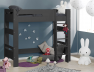Avec le lit superposé enfant London Anthracite 90/190 + 2 Matelas vous pouvez faire un lit mezzanine