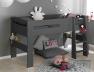 Avec le lit superposé enfant London Anthracite 90/190 + 2 Matelas vous pouvez faire un lit mi-hauteur et un lit bas