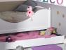 Lit enfant blanc Color Couchage90x190. Tiroir disponible sur le site.