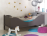 Lit enfant taupe Color couchage 90x190.