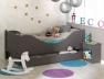 Lit enfant taupe Color couchage 90x190. Tiroir disponible sur le site ainsi que le chevet color.