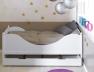 Lit enfant Color blanc couchage 90x190 avec son tiroir disponible sur le site.