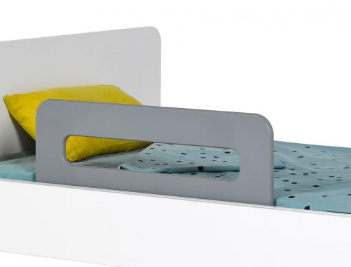 Barrière de lit enfant Gris Flanelle Bali 70cm