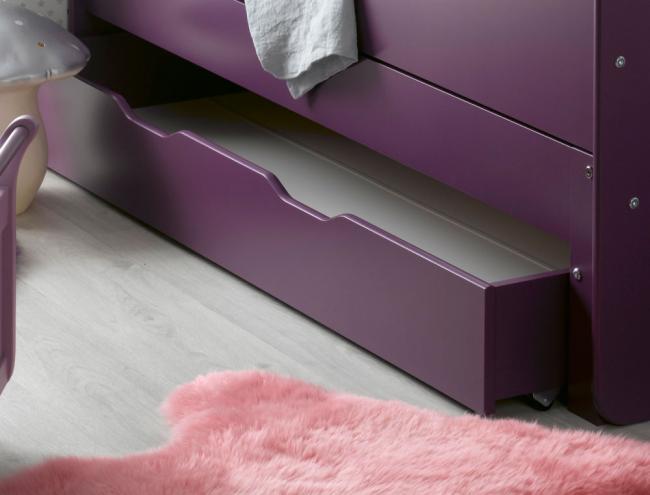 Tiroir de rangement pour lit violet feroe - Lit rangement tiroir ...