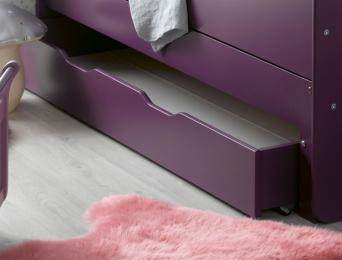 Tiroir lit évolutif enfant Feroe violet