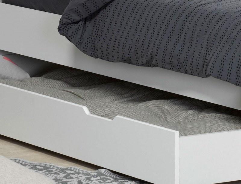 Tiroir du lit superposé Milo blanc 90x190