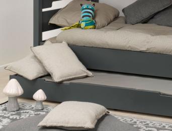 Tiroir du lit superposé Milo anthracite 90x190