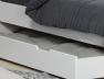 Tiroir du lit enfant Milo blanc 90x200
