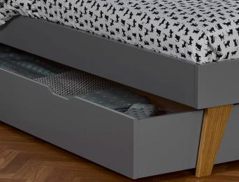 Tiroir du lit enfant Origine Gris Flanelle 90x200. Découvrez le lit Bloom sur notre site.