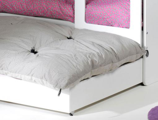 Tiroir du lit enfant Féroé blanc 90x200