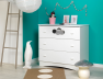 Commode chambre bébé Altéa blanc