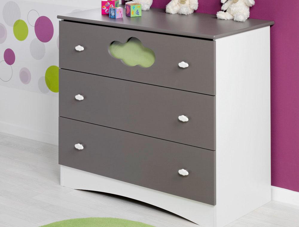 commode pour chambre enfant altea taupe. Black Bedroom Furniture Sets. Home Design Ideas