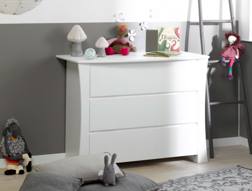 commode chambre enfant blanche paco. Black Bedroom Furniture Sets. Home Design Ideas