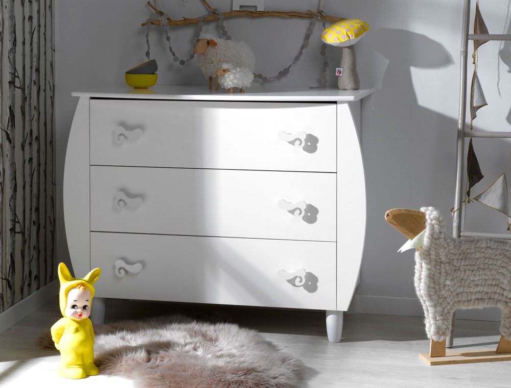 Commode chambre enfant katherine roumanoff lutin blanc for Decoration chambre katherine roumanoff