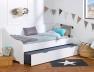lit banquette gigogne enfant calli blanc. Black Bedroom Furniture Sets. Home Design Ideas