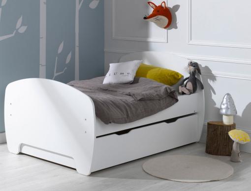 lit enfant volutif youpi blanc avec tiroir et matelas chambrekids. Black Bedroom Furniture Sets. Home Design Ideas