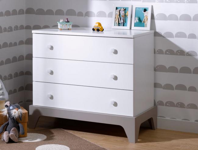 commode paris blanc et lin. Black Bedroom Furniture Sets. Home Design Ideas