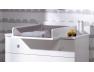 Commode Paris Blanc/gris clair avec son plan à langer à découvrir sur le site