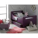 Lit enfant évolutif Violet Féroé avec tiroir et matelas