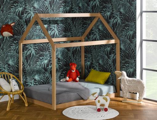 lit enfant cabane volutif h tre capsule et son matelas volutif en couchage 90x140 cm. Black Bedroom Furniture Sets. Home Design Ideas