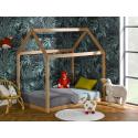 Lit cabane Montessori Capsule Hêtre + Matelas 90x140 cm