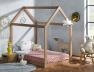 Lit cabane montessori en bois avec matelas fabriqué en France