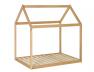 Lit cabane montessori en bois avec matelas et sommier à lattes