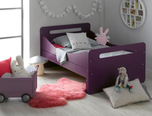 Lit évolutif enfant Feroe violet.