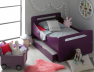 Lit évolutif enfant Feroe violet. Possibilité de rajouter un tiroir