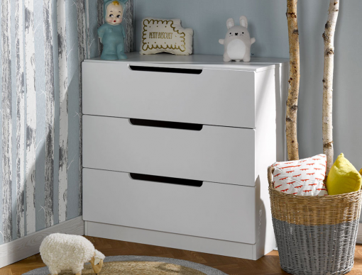 Commode enfant Plume blanc
