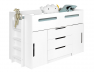 Commode Plume Blanc s'adapte sous le lit mi-hauteur plume