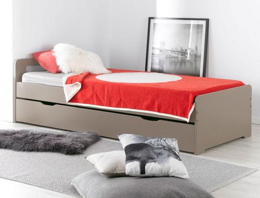 lit gigogne enfant lin f ro 90x190 chambrekids. Black Bedroom Furniture Sets. Home Design Ideas