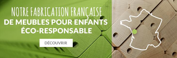 Fabrication française de meubles enfants éco-responsable